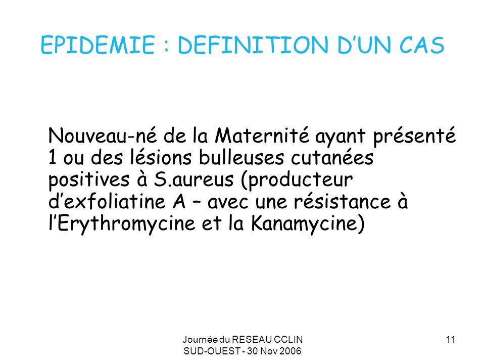 EPIDEMIE : DEFINITION D'UN CAS
