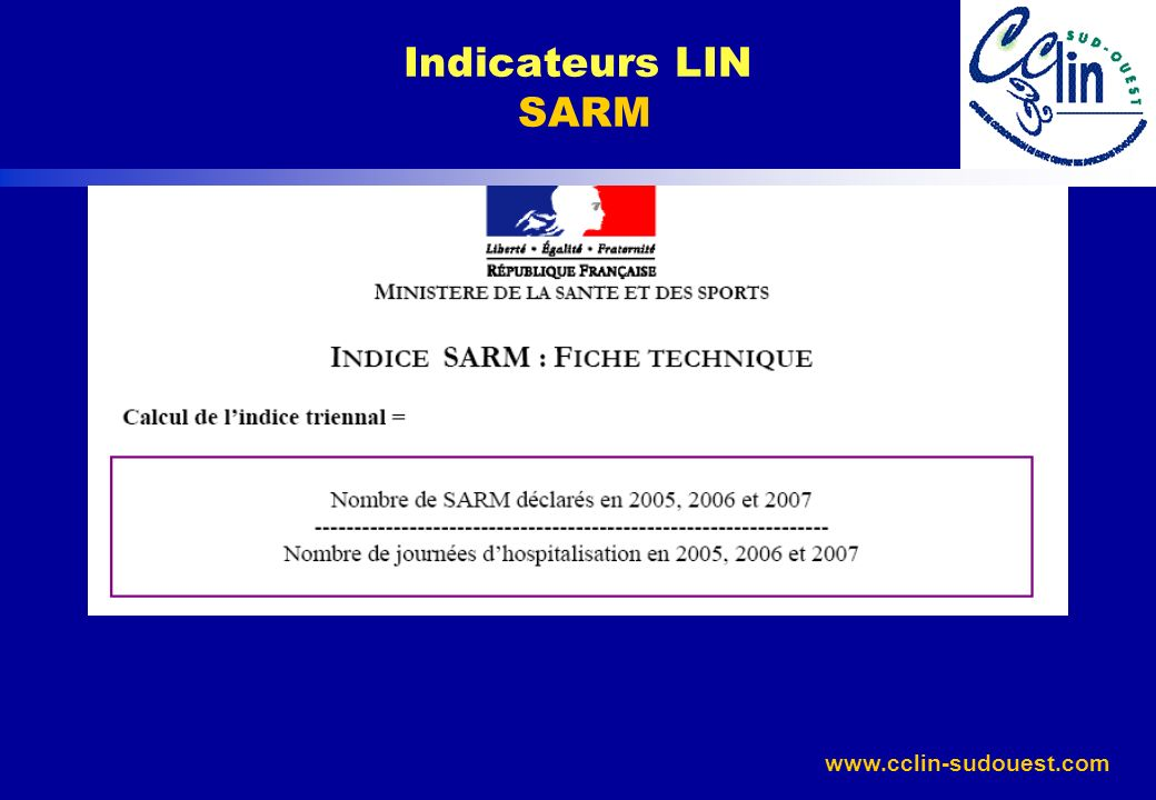 Indicateurs LIN SARM
