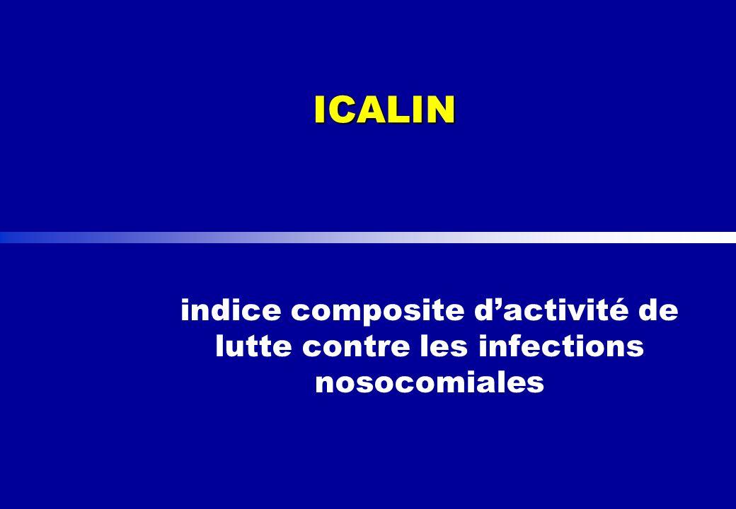 ICALIN indice composite d'activité de lutte contre les infections nosocomiales