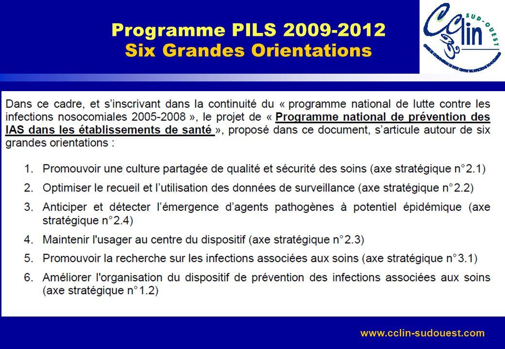 Programme PILS 2009-2012 Six Grandes Orientations