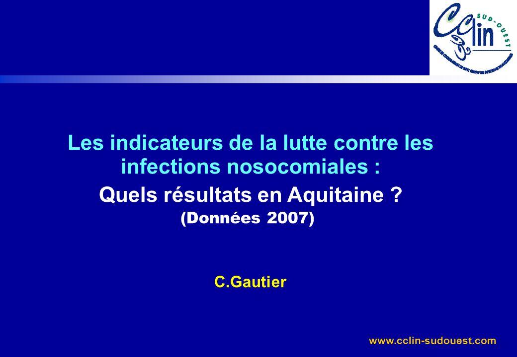 Les indicateurs de la lutte contre les infections nosocomiales :
