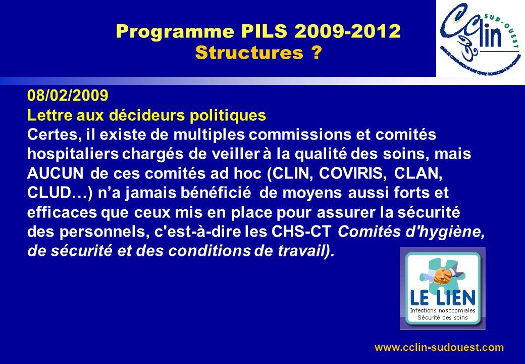 Programme PILS 2009-2012 Structures