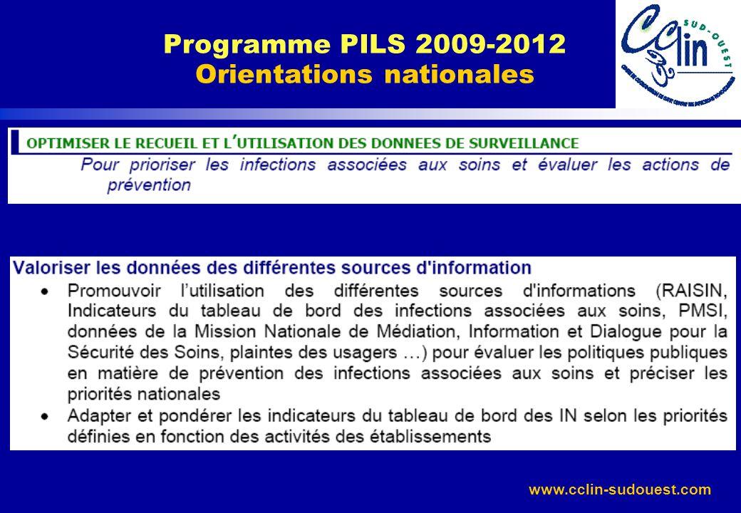 Programme PILS 2009-2012 Orientations nationales