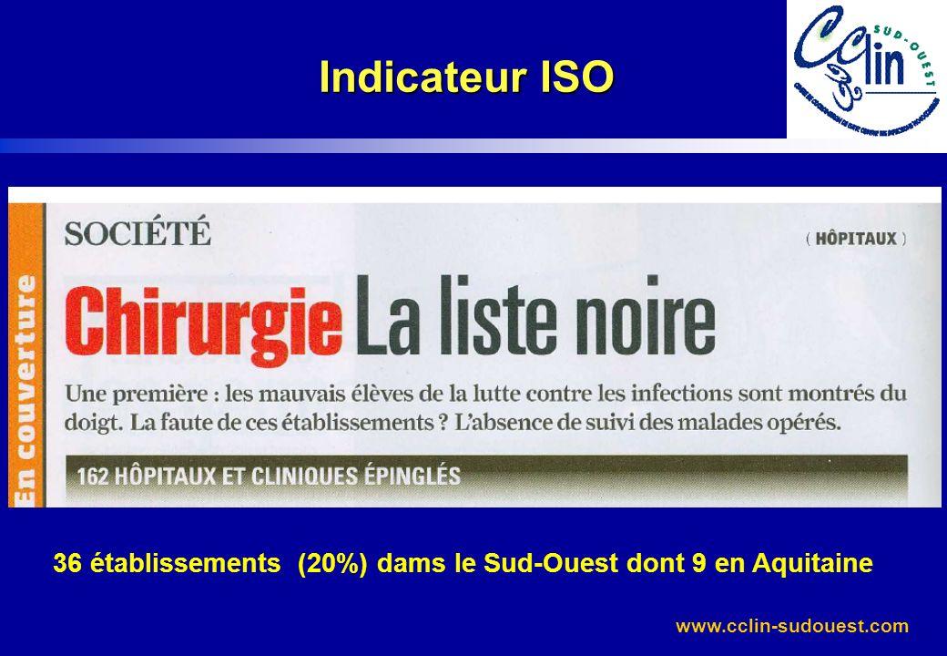 36 établissements (20%) dams le Sud-Ouest dont 9 en Aquitaine