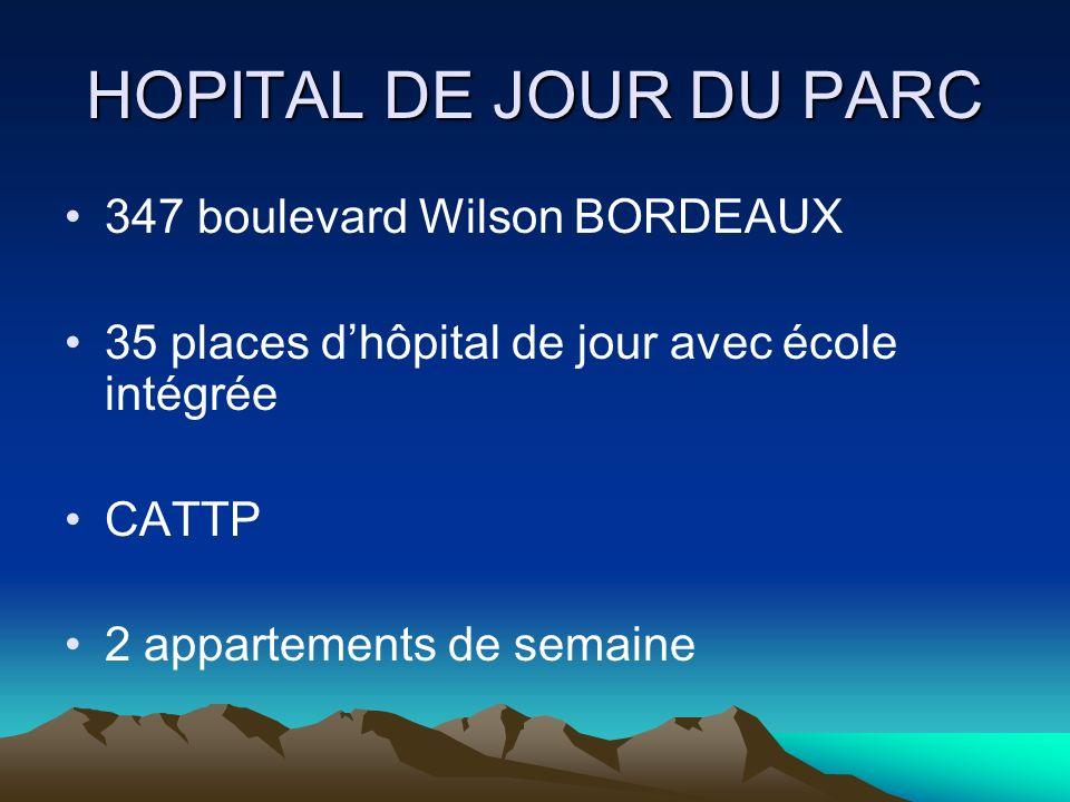 HOPITAL DE JOUR DU PARC 347 boulevard Wilson BORDEAUX