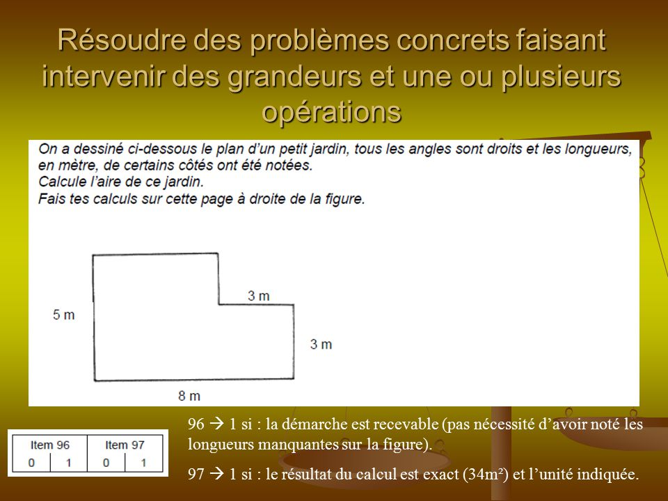 Résoudre des problèmes concrets faisant intervenir des grandeurs et une ou plusieurs opérations
