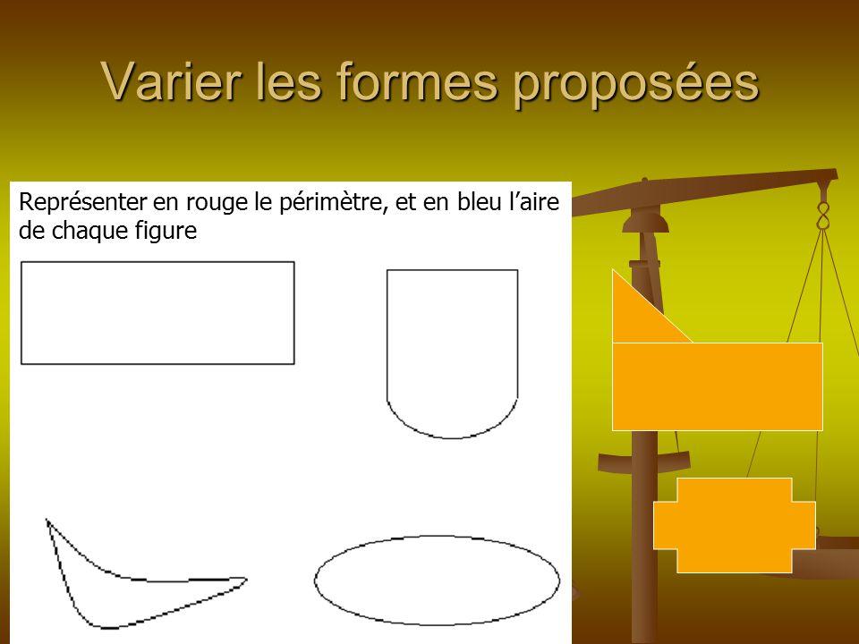 Varier les formes proposées
