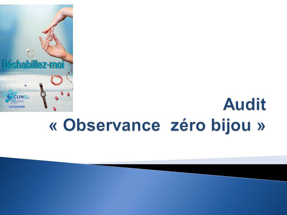 Audit « Observance zéro bijou »
