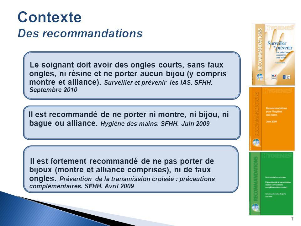 Contexte Des recommandations