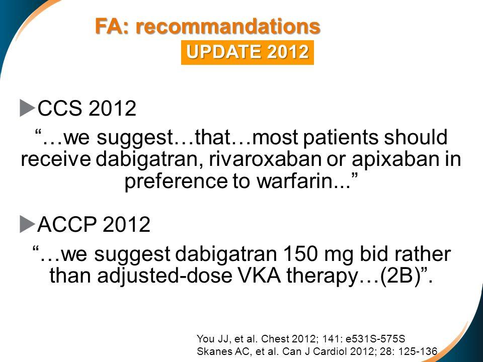 FA: recommandations CCS 2012