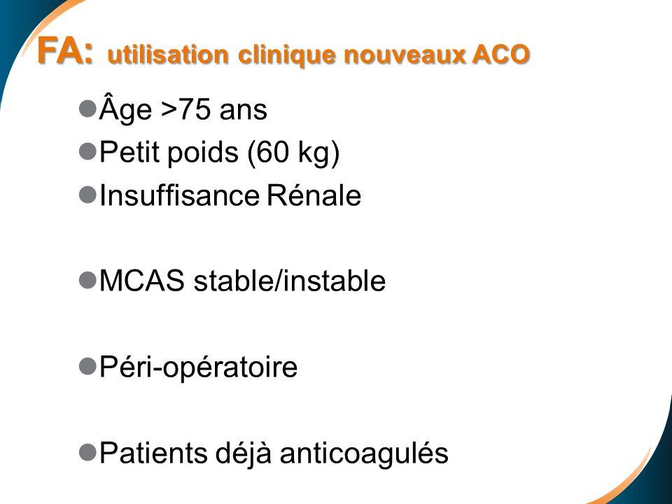 FA: utilisation clinique nouveaux ACO