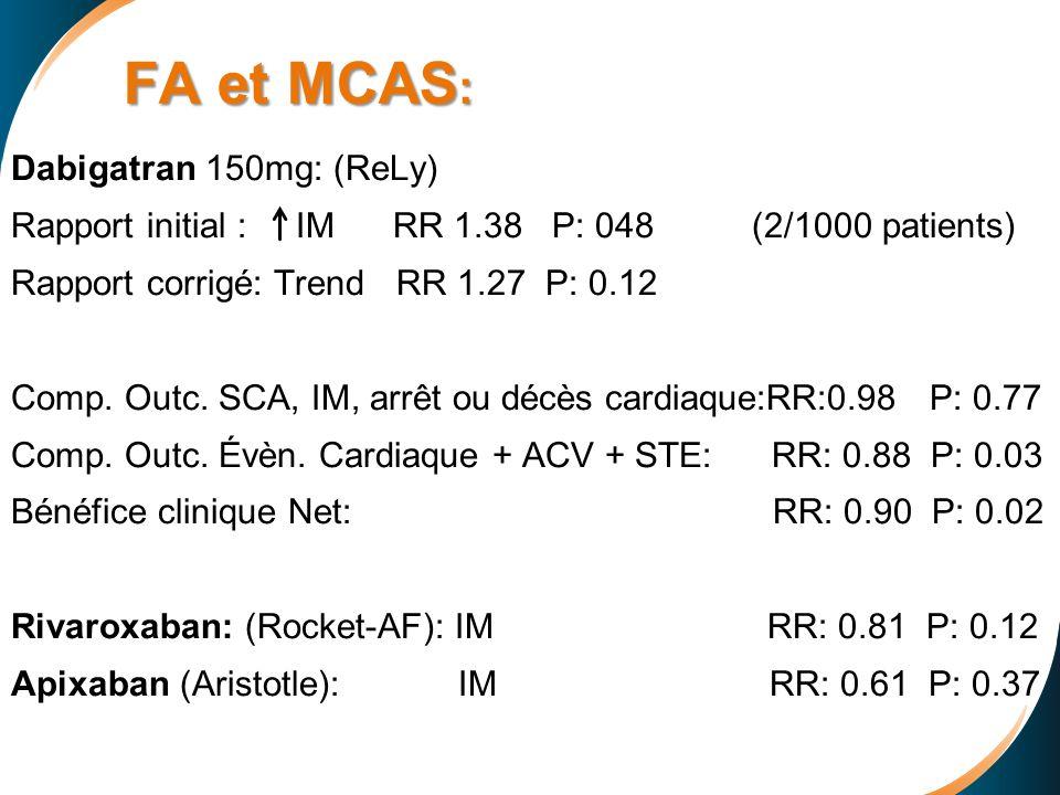 FA et MCAS: