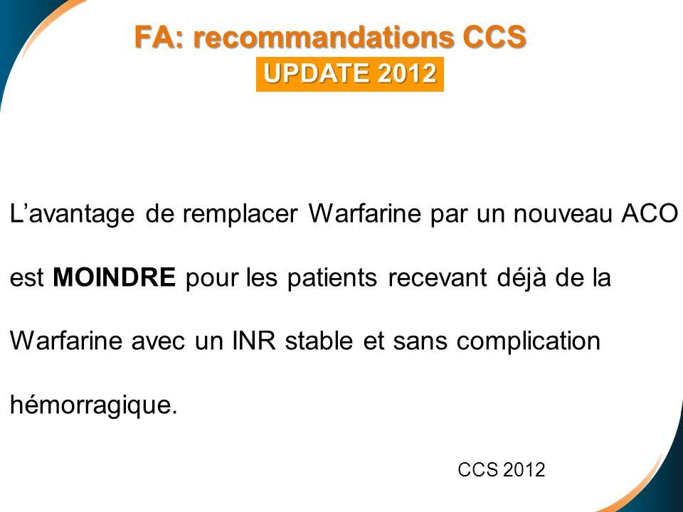 FA: recommandations CCS