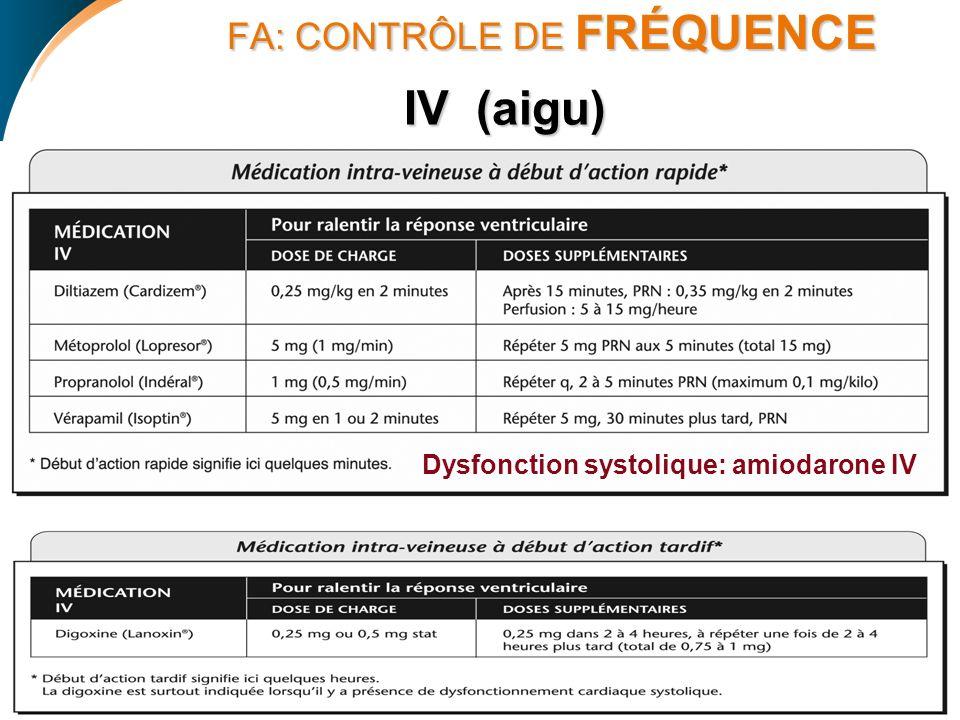 FA: CONTRÔLE DE FRÉQUENCE