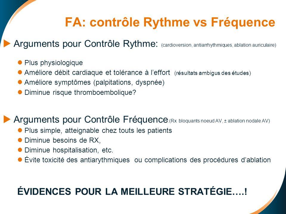 FA: contrôle Rythme vs Fréquence