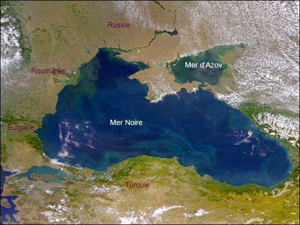 Russie Mer d'Azov Roumanie Mer Noire Bulgarie Istanbul Turquie