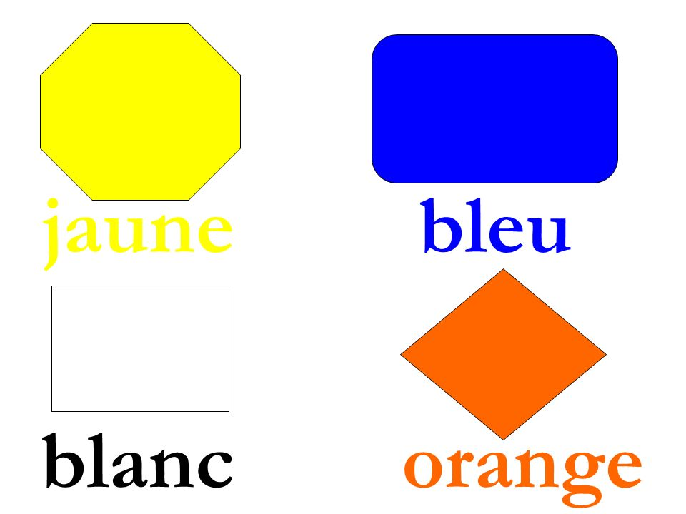 jaune bleu blanc orange