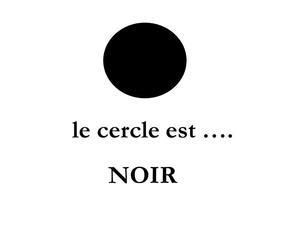 le cercle est …. NOIR