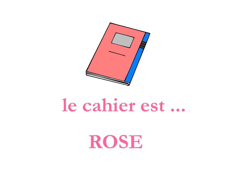 le cahier est ... ROSE