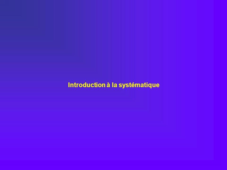 Introduction à la systématique