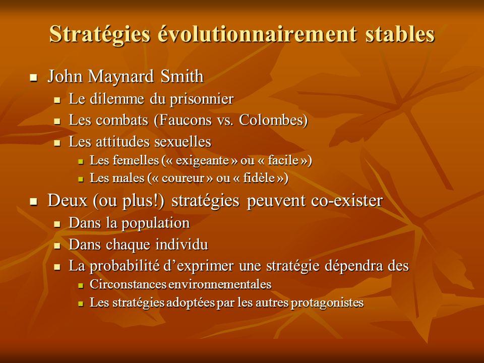 Stratégies évolutionnairement stables