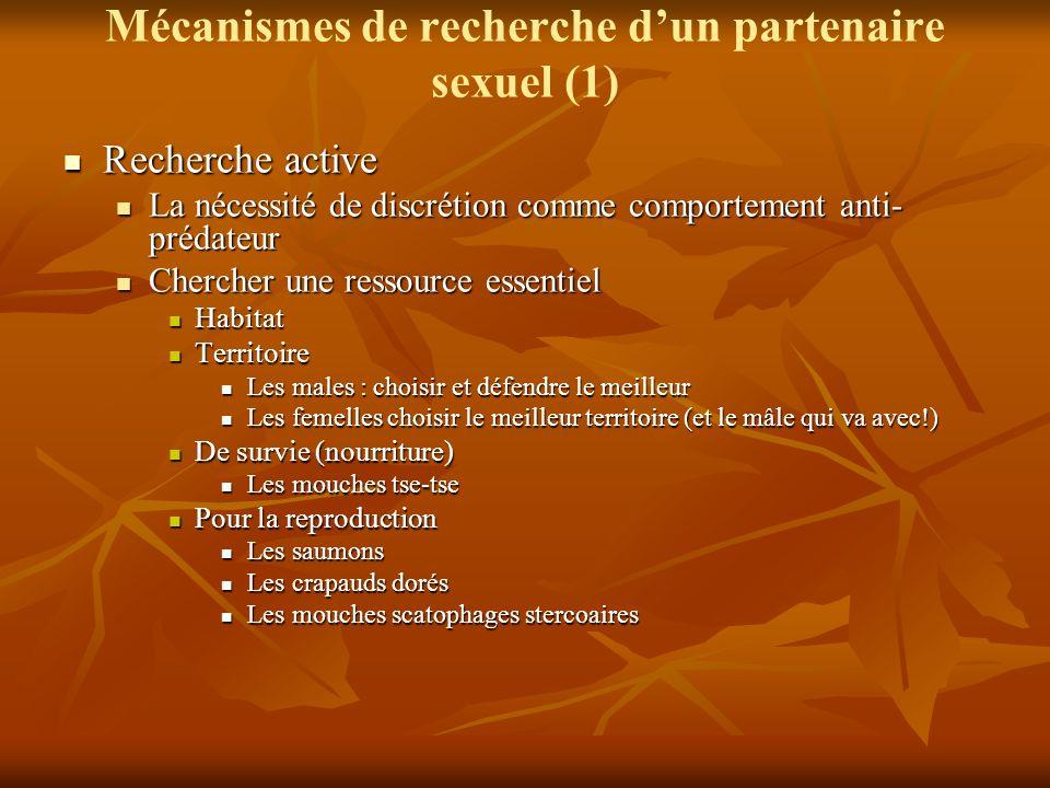 Mécanismes de recherche d'un partenaire sexuel (1)