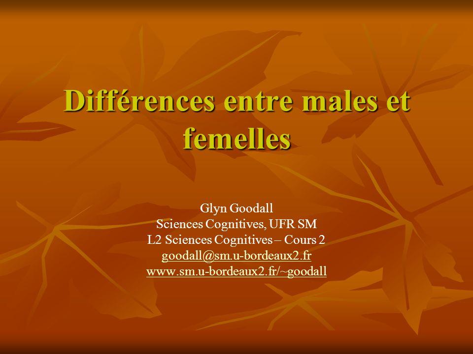 Différences entre males et femelles