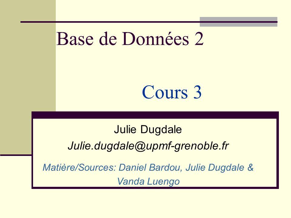 Matière/Sources: Daniel Bardou, Julie Dugdale &