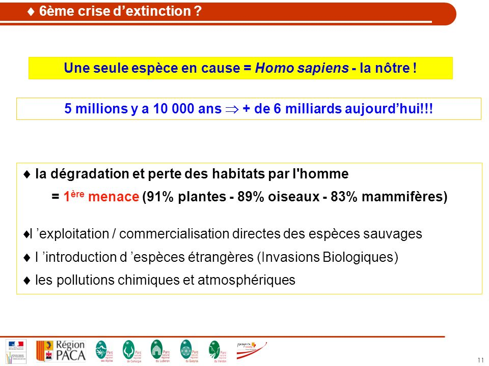  6ème crise d'extinction