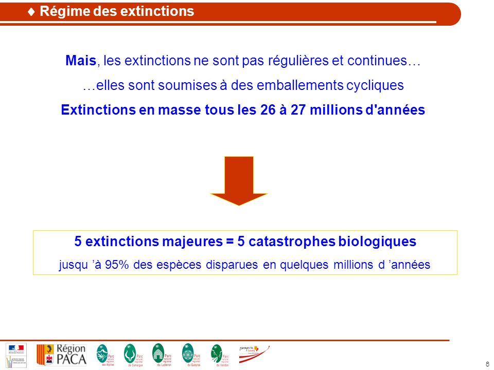 Extinctions en masse tous les 26 à 27 millions d années
