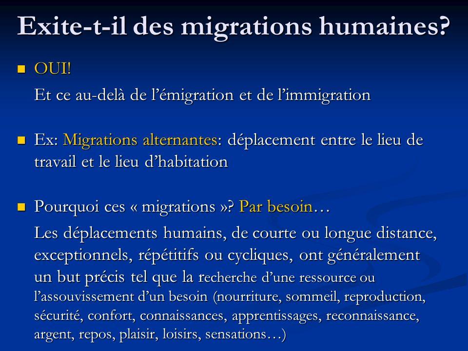Exite-t-il des migrations humaines