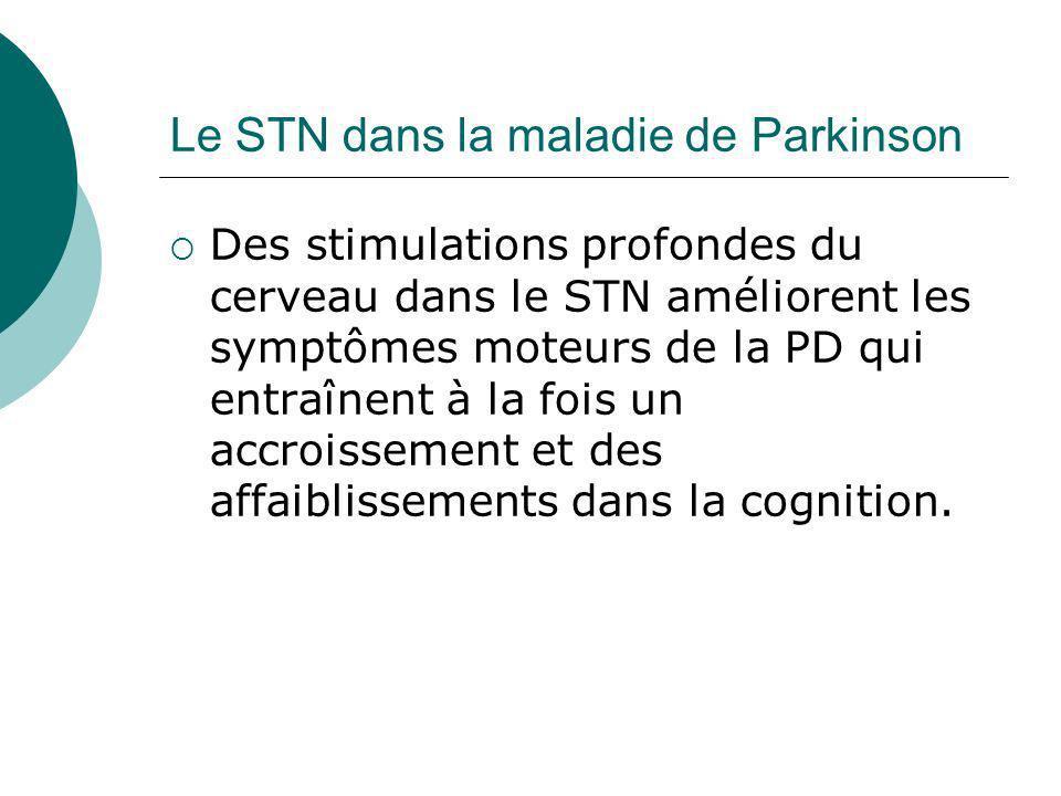 Le STN dans la maladie de Parkinson