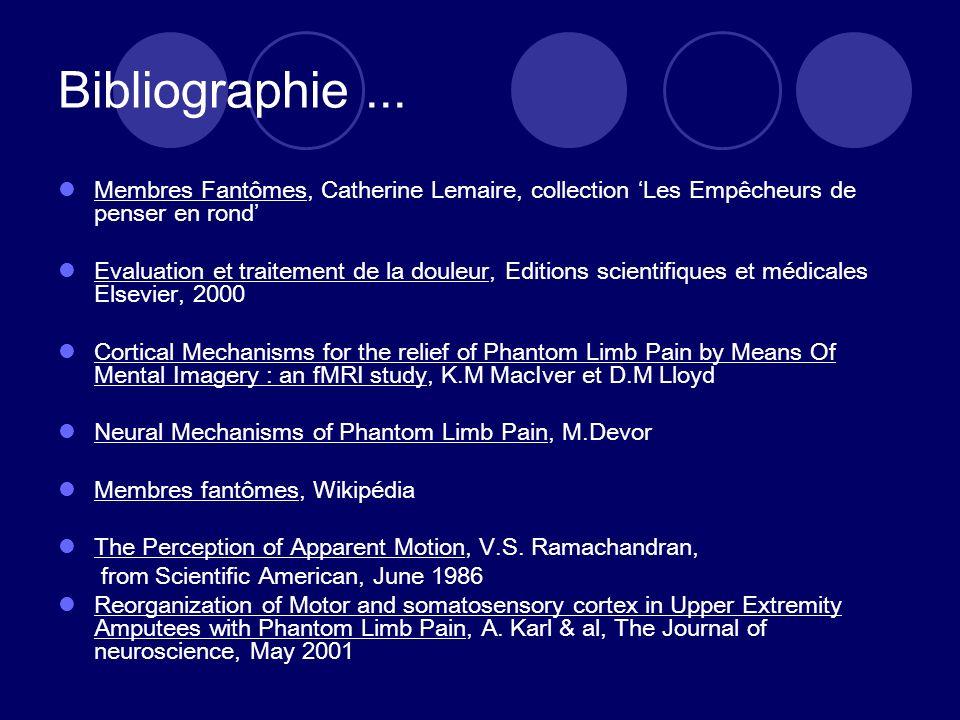 Bibliographie ... Membres Fantômes, Catherine Lemaire, collection 'Les Empêcheurs de penser en rond'