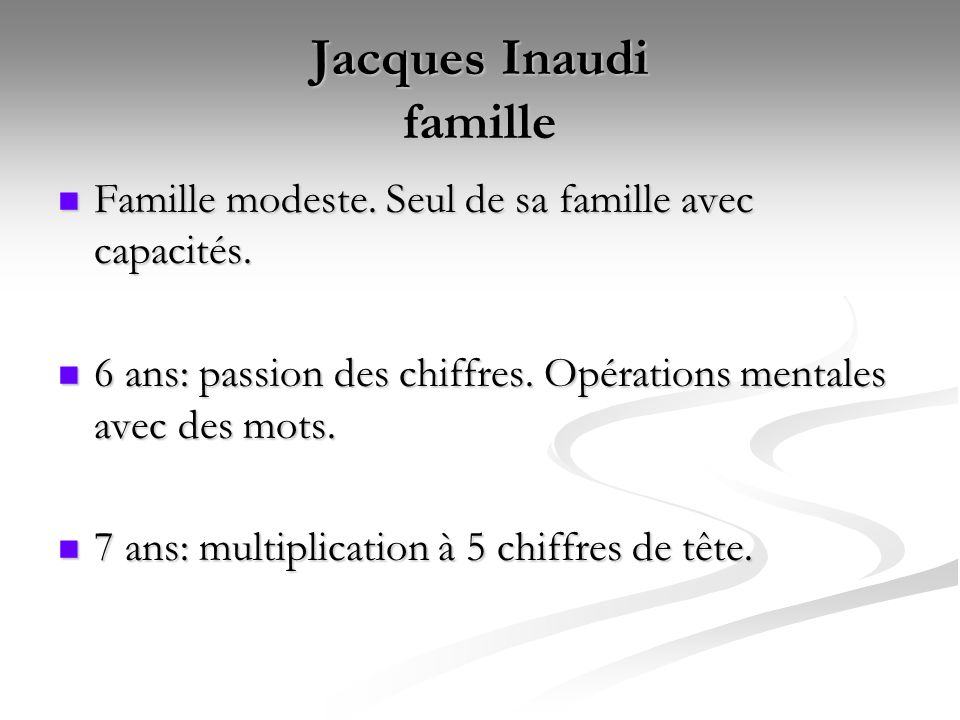 Jacques Inaudi famille