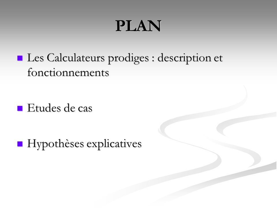 PLAN Les Calculateurs prodiges : description et fonctionnements