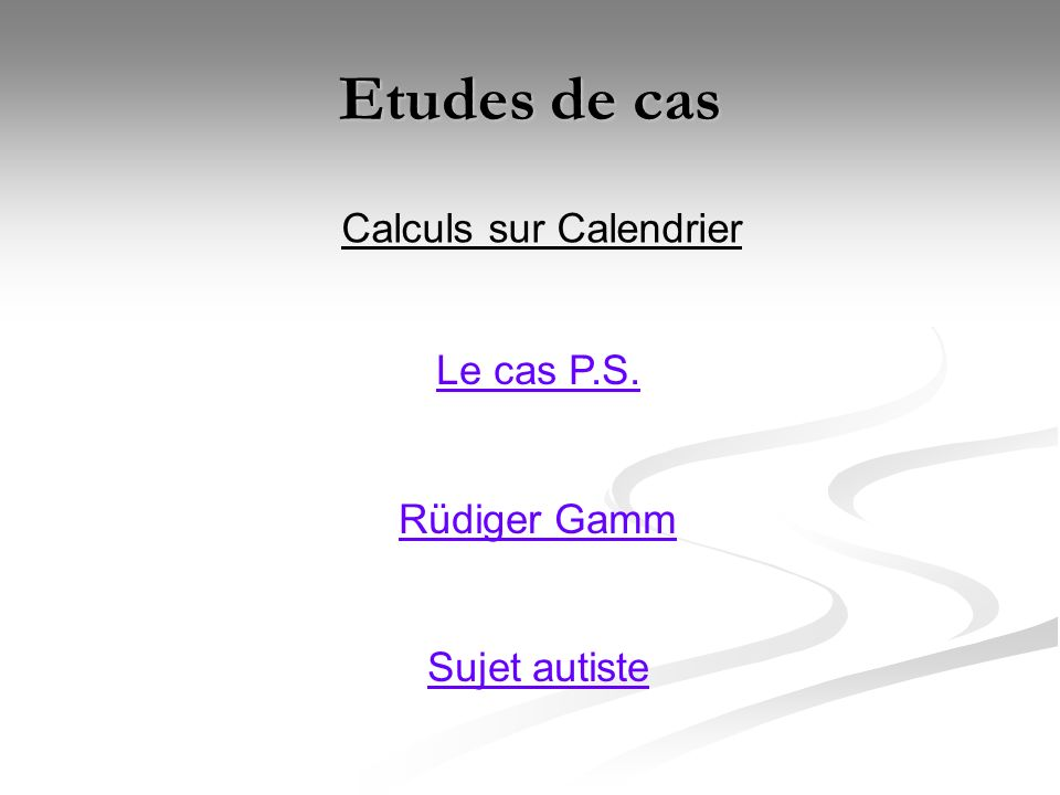 Calculs sur Calendrier