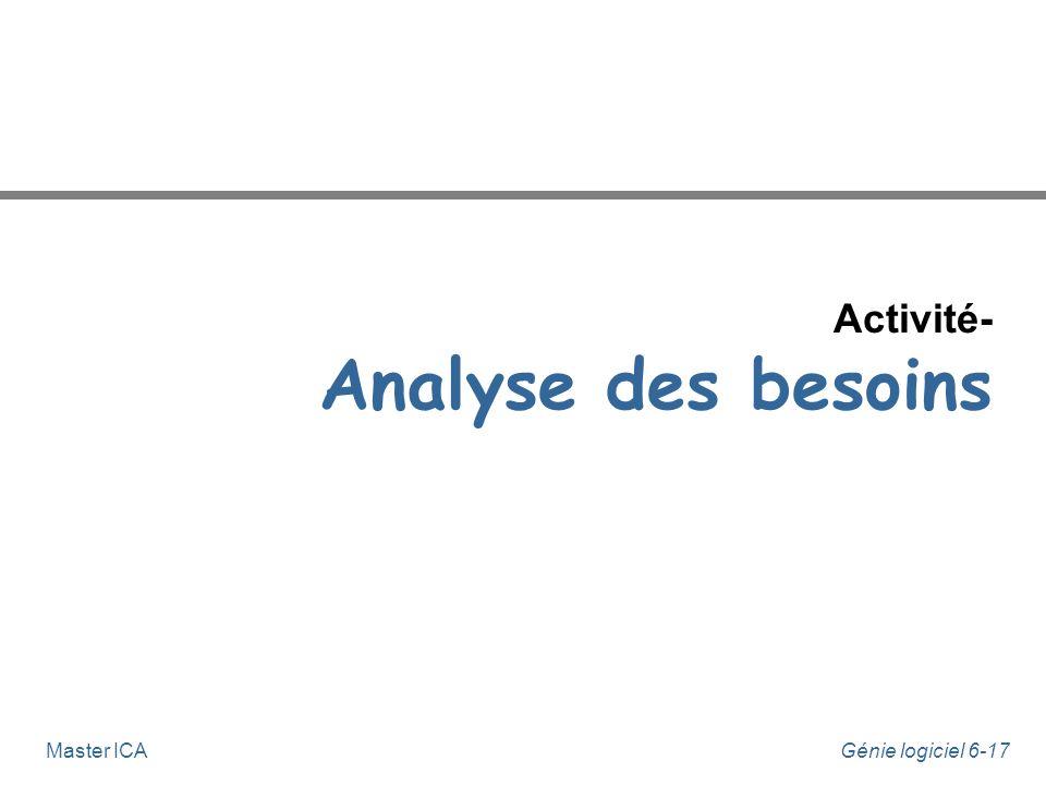 Activité- Analyse des besoins