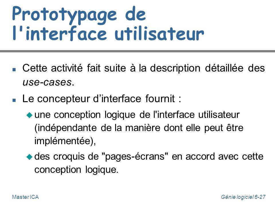 Prototypage de l interface utilisateur