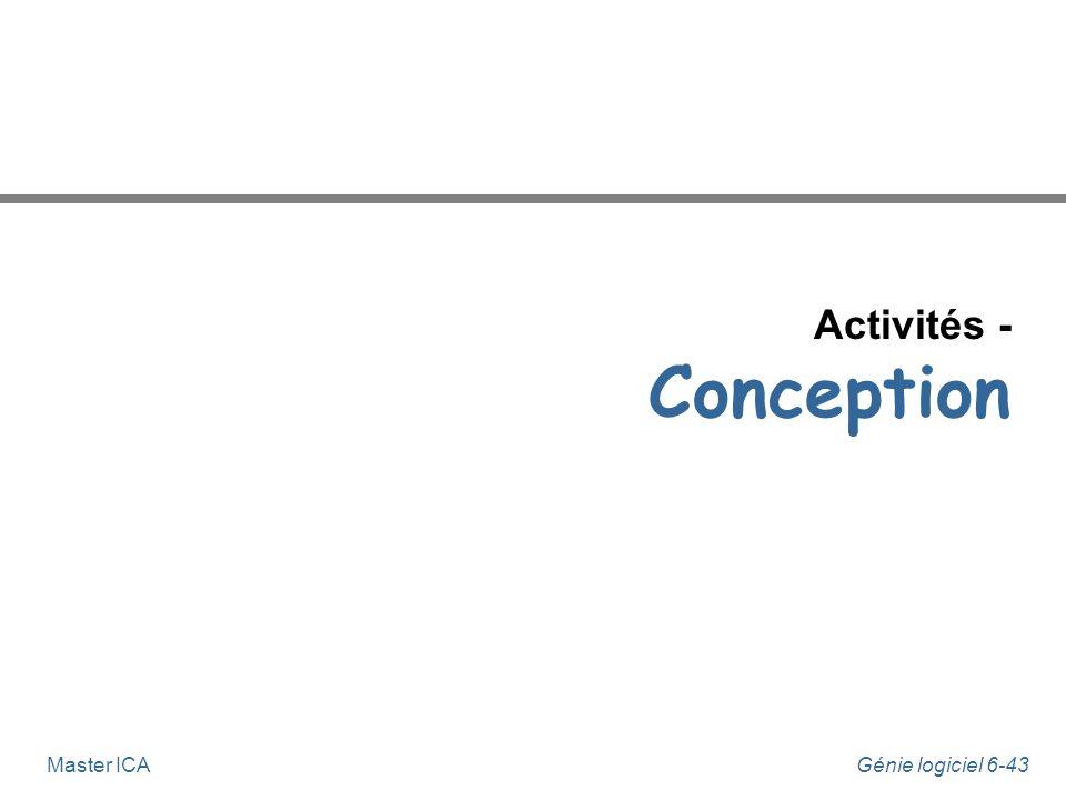 Activités - Conception