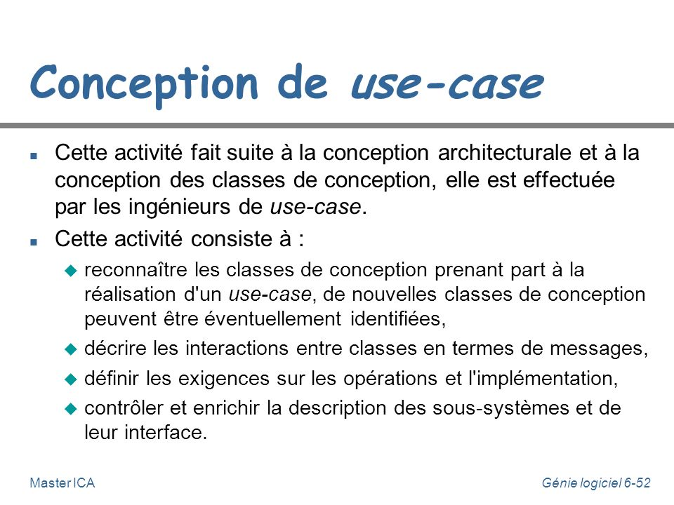 Conception de use-case