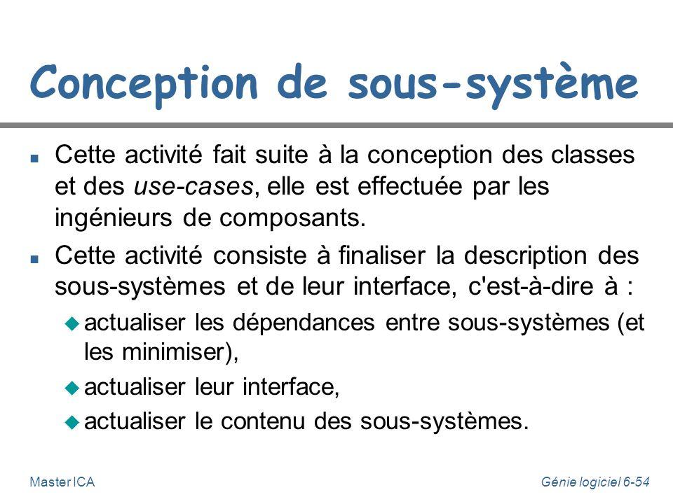 Conception de sous-système