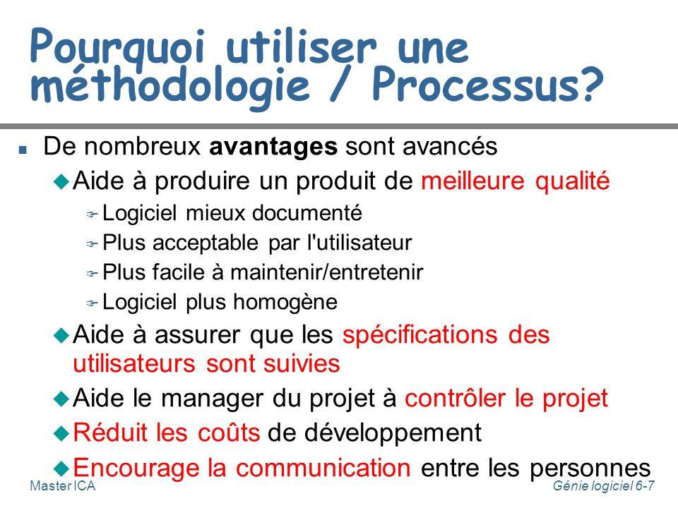 Pourquoi utiliser une méthodologie / Processus