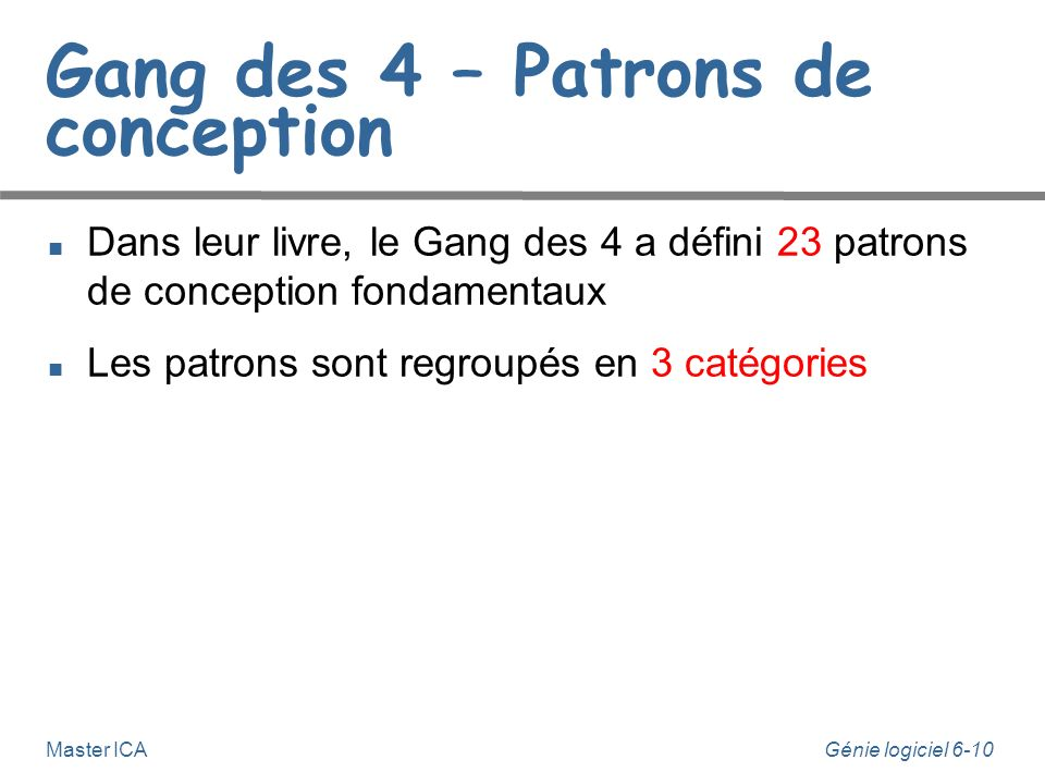 Gang des 4 – Patrons de conception