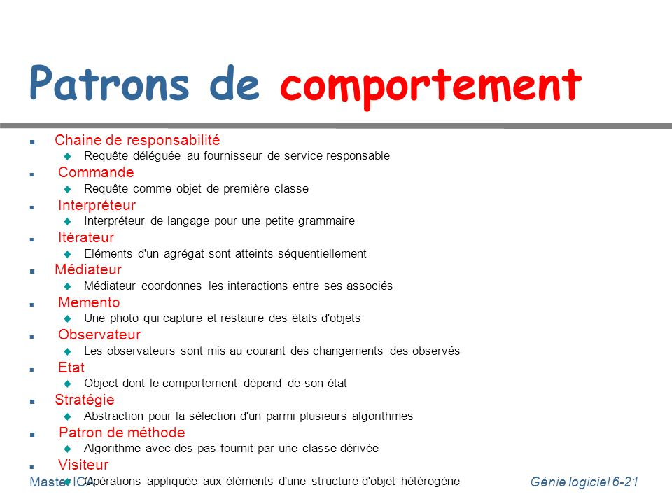 Patrons de comportement