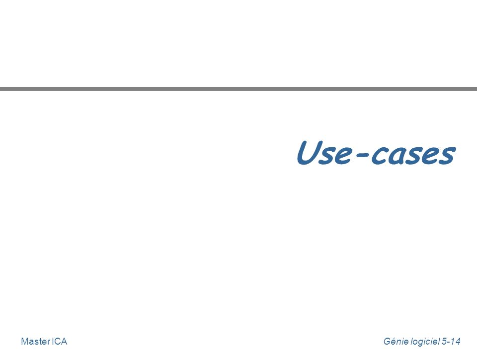 Use-cases Master ICA
