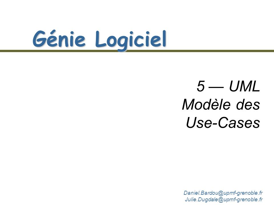 5 — UML Modèle des Use-Cases