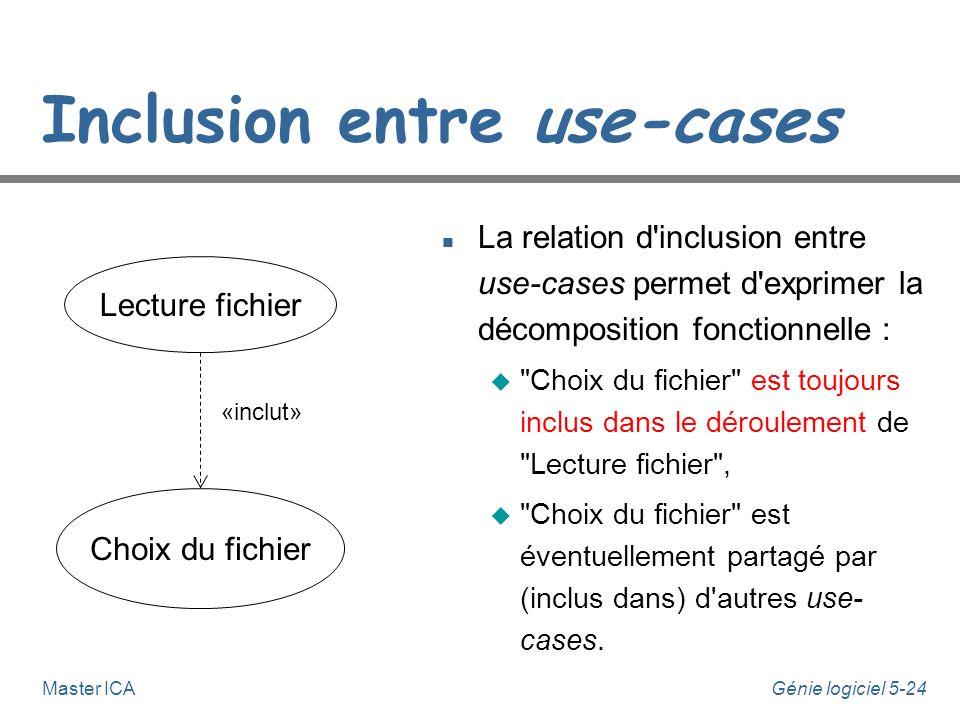 Inclusion entre use-cases