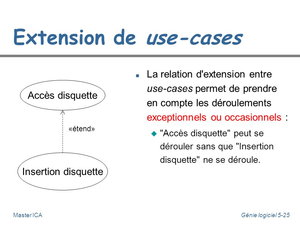 Extension de use-cases