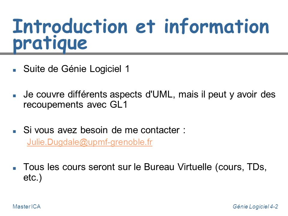 Introduction et information pratique