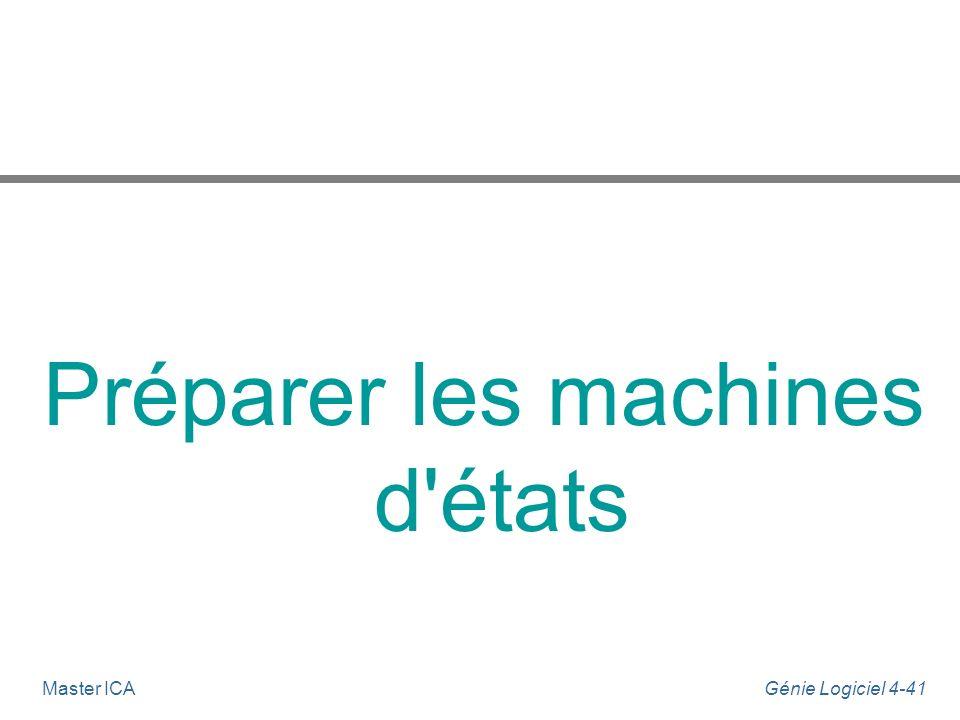Préparer les machines d états